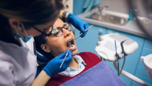 dental check-up at oradent dental care